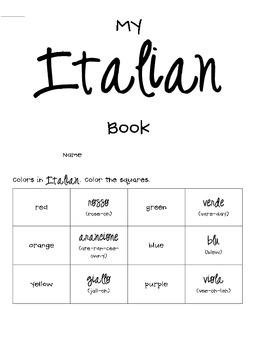 Learn Italian Mini Book