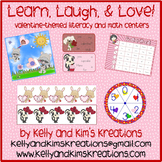 Learn, Laugh, Love {valentine-themed reading and math centers}