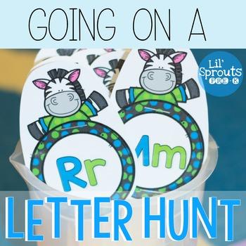 FREE - Learn Letters Activity - Going on a Letter Hunt PreK, Kindergarten