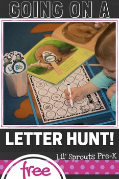 FREE - Learn Letters Activity - Summer Letter Hunt PreK, Kindergarten