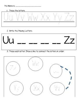 Learn Letters Uu-Zz