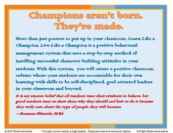 Positive Behavior Management Learn Like a Champion, Live Like a Champion 4-12 gd