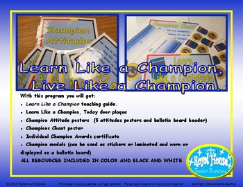 Positive Behavior Management Learn Like a Champion, Live Like a Champion K-3rd