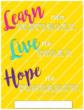 Learn Live Hope Bright Binder Cover