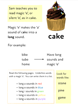 Learn Magic e (as in fine and cake) Learn To Read With Phonics)