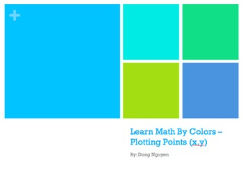 Learn Math By Colors - Plotting x and y Powerpoint