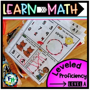 Learn Math: Leveled Proficiency Pack (LEVEL A)