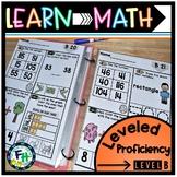 Learn Math: Leveled Proficiency Pack (LEVEL B)