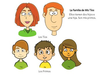 Learn Members of a Family in Spanish!  (Cut-Outs for Role-Play)