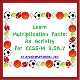 Learn Multiplication Facts: An Activity for CCSS-M 3.OA.7