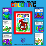 Learn Music Through Coloring Note Reading: Marine Life