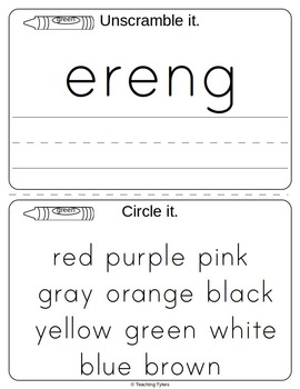 Green Color Activity Book