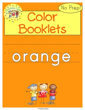 Colors Activities Worksheets Booklet Orange