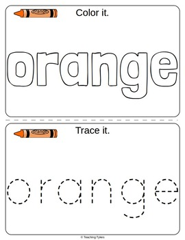 Orange Color Activity Book