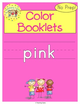 Colors Activities Worksheets Booklet Pink