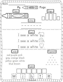 White Color Activity Book