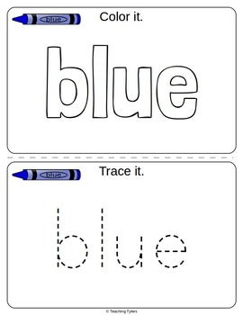 Colors Activities Worksheets Booklet Eleven Colors Bundle