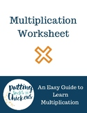 Learn My Multiplication Tables Worksheet