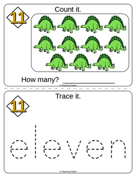 Number Eleven Number Sense and Numeration Interactive Book