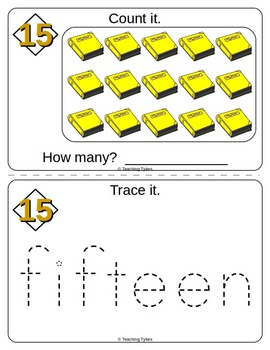 Number Fifteen Number Sense and Numeration Interactive Book