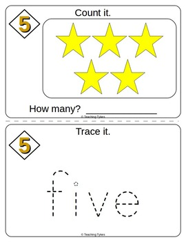 Number Five Number Sense and Numeration Interactive Book