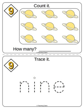 Number Nine Number Sense and Numeration Interactive Book