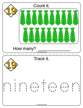 Number Nineteen Number Sense and Numeration Interactive Book