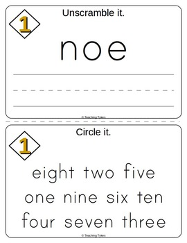 Number One Number Sense and Numeration Interactive Book