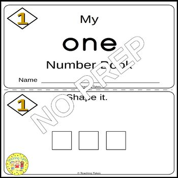 Numbers 1-10 Number Sense and Numeration Interactive Book