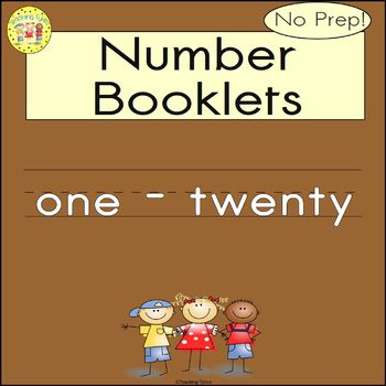 Numbers 1-20 Number Sense and Numeration Interactive Book