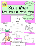 Sight Words Interactive Books and Word Work Dolch Pre-Primer