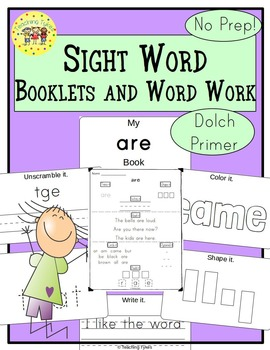 Sight Words Interactive Books and Word Work Dolch Primer