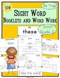 Sight Words Interactive Books and Word Work Dolch Second Grade