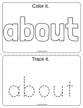 Sight Words Interactive Books and Word Work Dolch Third Grade