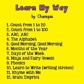 12 MP3 songs: Learn My Way (Kindergarten Calendar Music)