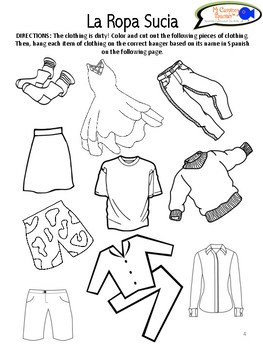 Learn Names of Clothing in Spanish! (Worksheets & Activity)