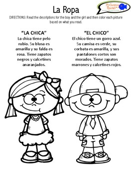 Learn Names Of Clothing In Spanish Worksheets Activity Tpt