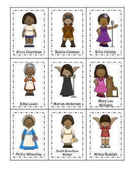 Learn Notable African American Women. American history Three Part Matching.