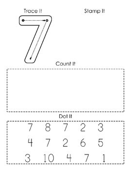 Learn Numbers 1 10 Preschool Math Worksheets By Fern And The Fawn Learning