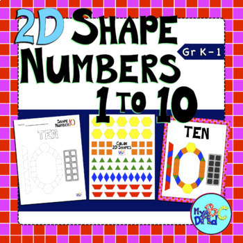 2D Shape Numbers Math Center Activity