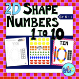 Shape Numbers 1 to 10 Posters