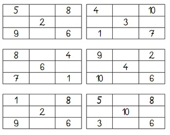 Learn Numbers in French/ Memory, Bingo, ... 1-10