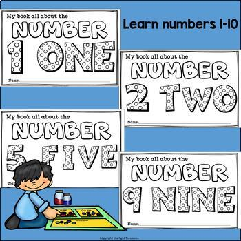 Learn Our Numbers: Numbers Mini Book for Early Readers 1-10