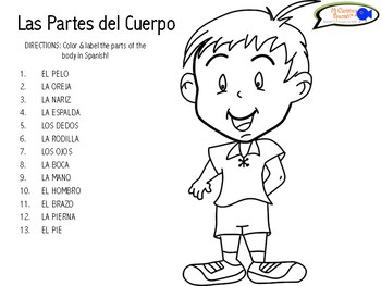 learn parts of the body me duele in spanish fun worksheets for k 3. Black Bedroom Furniture Sets. Home Design Ideas