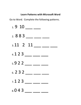 Learn Patterns in Microsoft Word