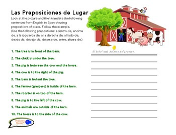 spanish prepositions worksheet worksheets for school mindgearlabs. Black Bedroom Furniture Sets. Home Design Ideas