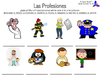 Learn Professions in Spanish!