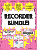 Learn Recorder Notes BUNDLE! Back to School! Finger Charts