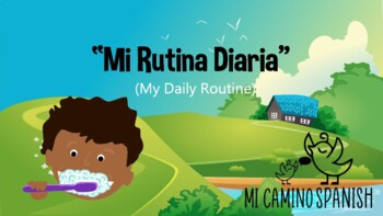 "Learn Reflexive Verbs in Spanish! (""My Daily Routine"" Presentation with Review)"