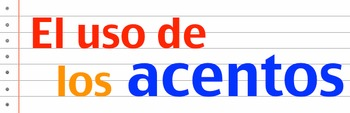 Rules of Accent Marks in Spanish: Worksheet